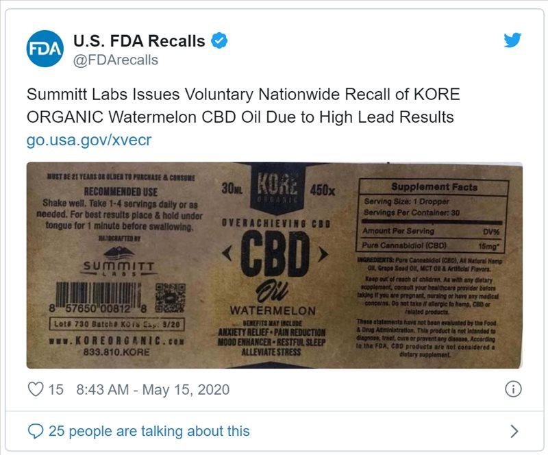 cbd recall